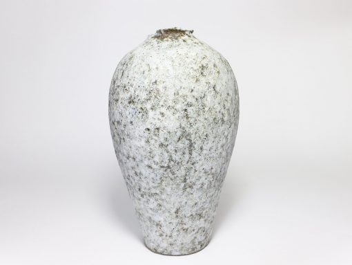 Claire Lardner Burke, Pale Grey Vase with Chrome (017) 1