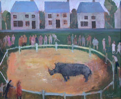 Richard Sorrell RWS RBA NEAC, The Last Rhinoceros in Drugheda 1