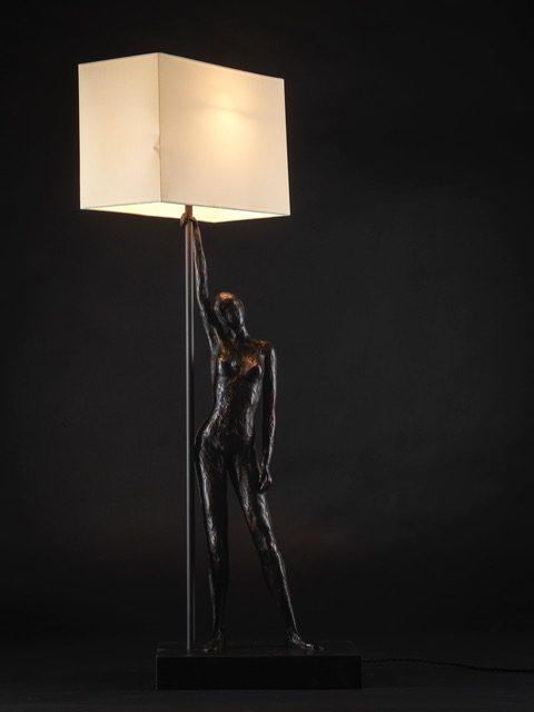 Samantha Thornton, Bronze Figured Lamp 1