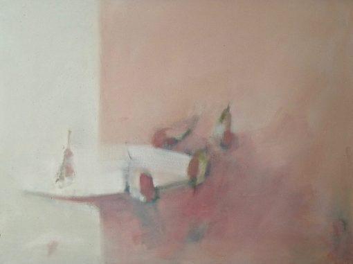 Gail Rhu, Pears on a White Plate 1