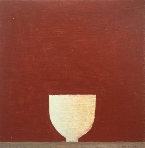 Philip Lyons, Stillness, White on Red 1