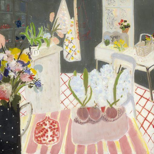 Belynda Sharples, Still Life - Pomegranate & Hyacinths 3