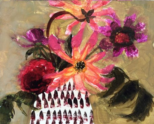 Arabella Shand, Dahlias in Black and White Jug 1