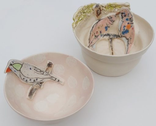 Belynda Sharples, Two small bowls with Birds 1