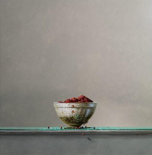 Bryan Hanlon, Still life of Redcurrants 1