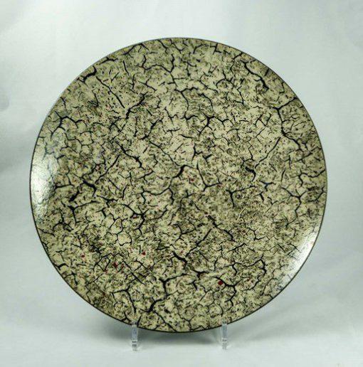 David Gee, Black on cream crackle bowl 425 1