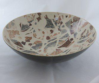 David Gee, Cream inlay bowl 73 1