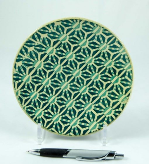 David Gee, Turquoise geometric small plate 406 1