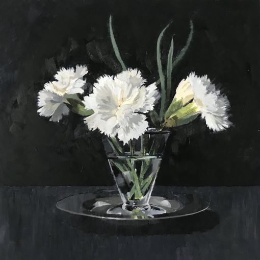 Gilly Lovegrove, White Dianthus 1