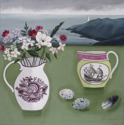 Paul Sharples, Cornish Coast and Boat Jug 1