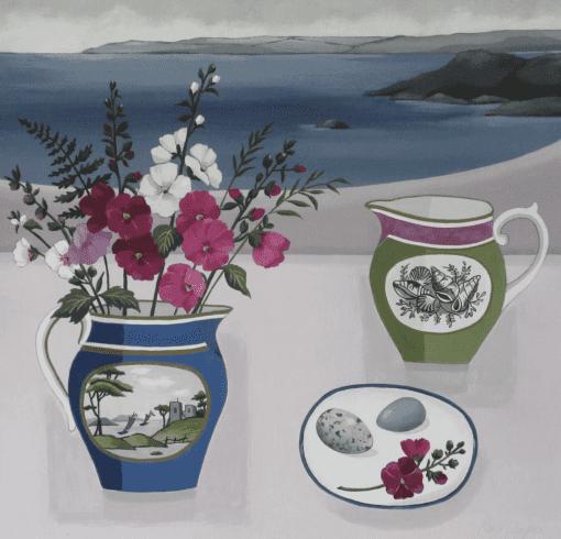 Paul Sharples, Summer Flowers in a Cornish Landscape 1