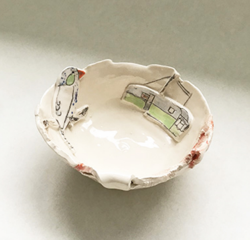 Belynda Sharples, Small bowl with Caravan 1