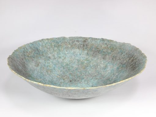 Claire Lardner Burke, Large Blue Green Bowl with Copper 019 1