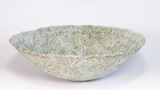 Claire Lardner Burke, Large Speckled Green Bowl with Chrome 018 1