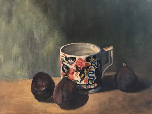 Annabel Gunter, Porcelain Cup and Figs 1