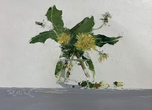 Mike Service, Dandelion in Glass Jar 1