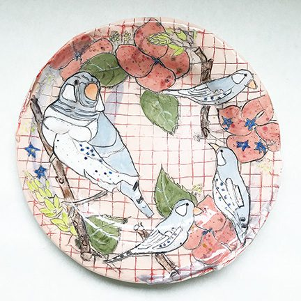 Belynda Sharples, Plate with Finch and Tweetie Birds 1