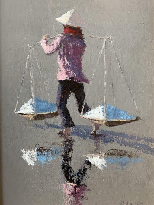 Patrick Gibbs, Woman at Hon Khoi Salt Fields, Vietnam 1