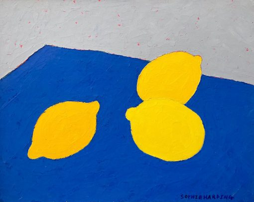 Sophie Harding, Lemons on Blue 3