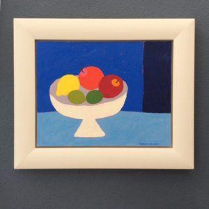 Sophie Harding, Fruit Bowl on Blue 4