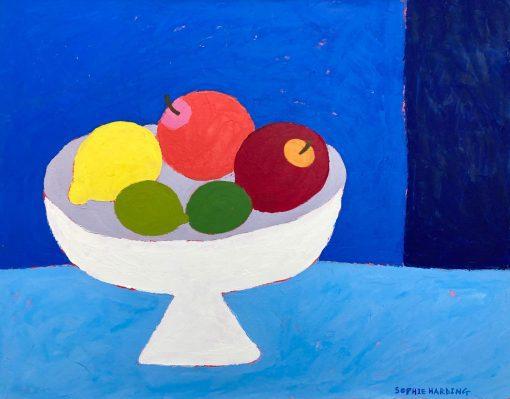 Sophie Harding, Fruit Bowl on Blue 3