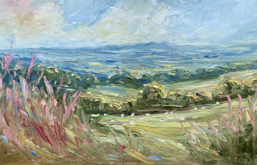 Rupert Aker, Willow herb & Sheep grazing 1