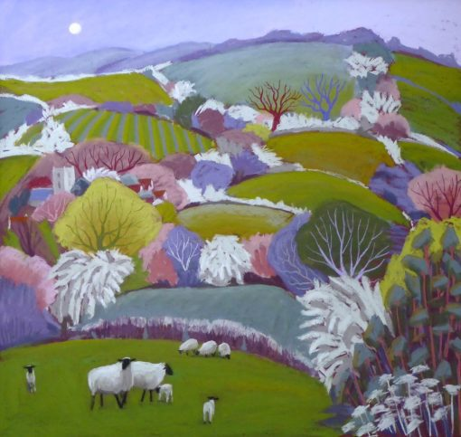 Sue Campion, A Spring Day in Wentnor 1