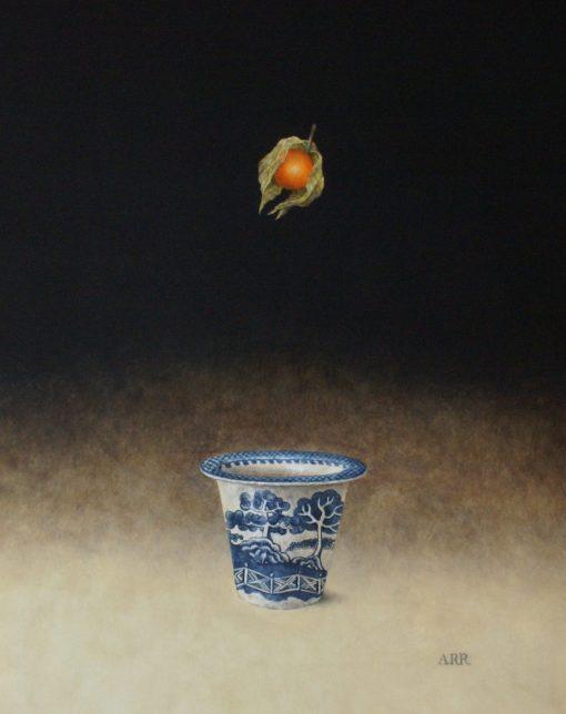 Alison Rankin, Willow Pattern Jar with Falling Physalis 1
