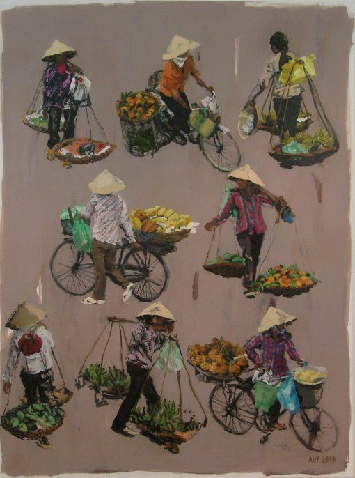 Anna Pinkster, Eight Fruit Sellers 1