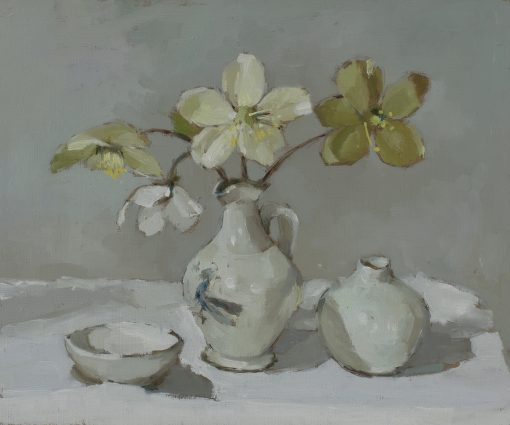 Annie Waring, Green Hellebores and Pots 1