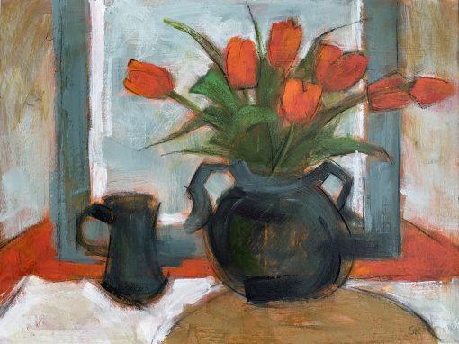 Susan Kirkman, Red Tulips 1