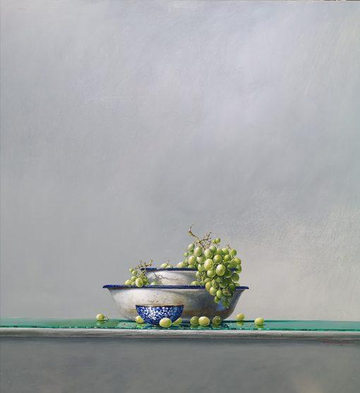 Bryan Hanlon, Green Grapes & Chinese Tea Bowl 1