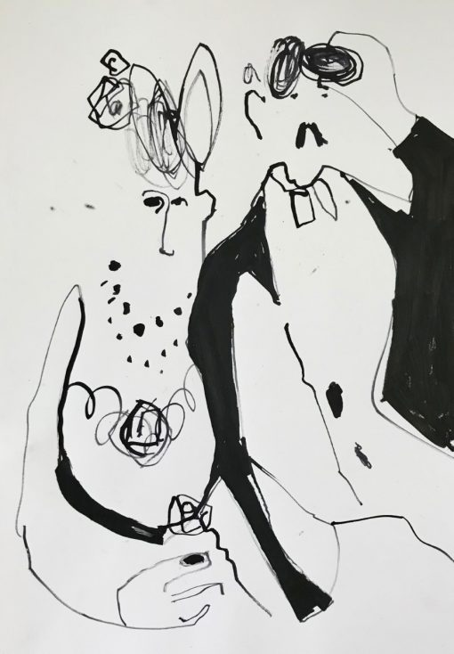 Jane Martin, Homage to Renoir Drawing - Opera Box I 1
