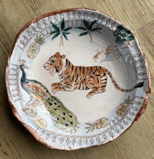Belynda Sharples, Tiger and Sacred Cow Plate 1