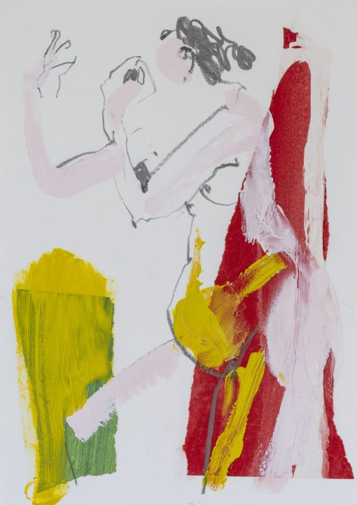Jane Martin, Life Study I - Mustard and Red 1