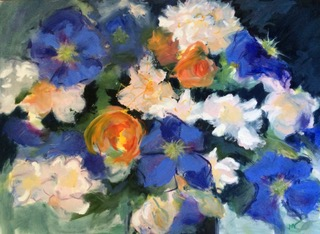 Jenny Hill-Norton, Clematis & Roses 1