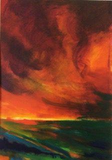 Jenny Hill Norton, Storm, Red Sky 1