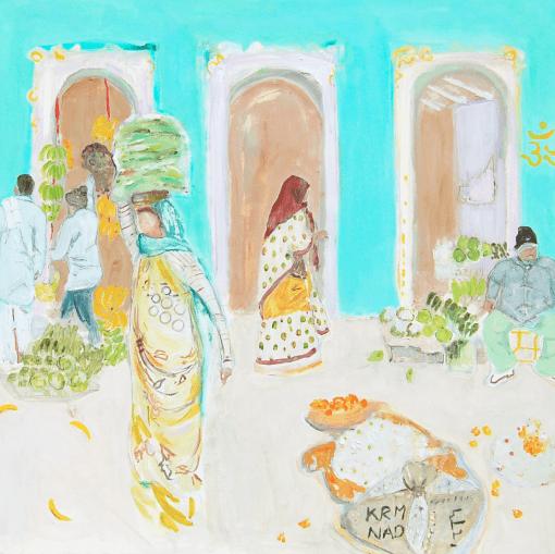 Belynda Sharples, Market Day in Jaipur 1