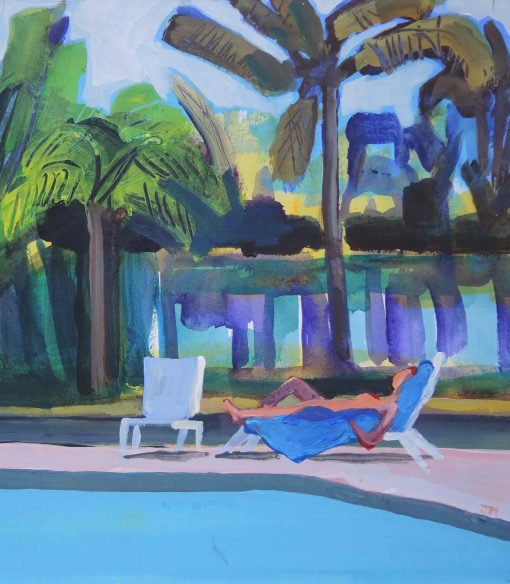 John Mackinlay, Veranda Hotel Pool Mauritius 1