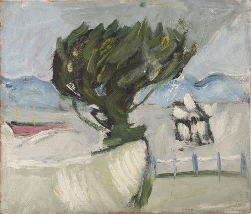 Romi Behrens, Clevedon Pier with Tree II 1