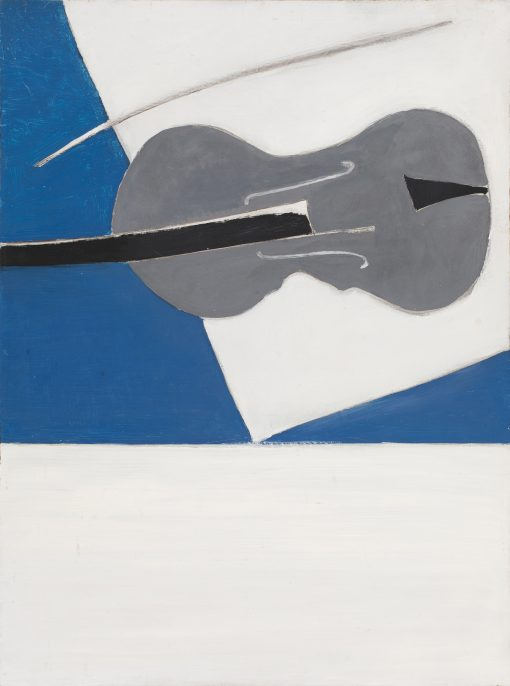 Romi Behrens, Grey Fiddle with Blue & White 1