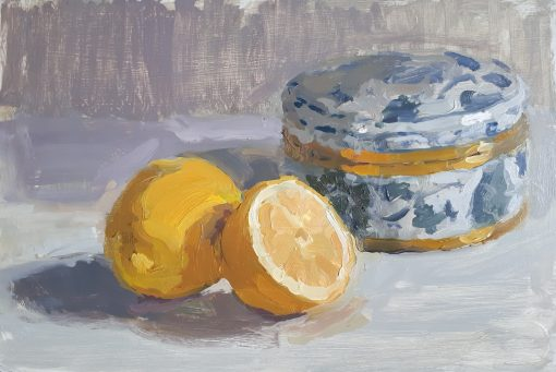 Lotta Teale, Thai Blue Box with Lemons 1