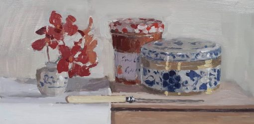 Lotta Teale, Red Orchids with Apricot Jam 1