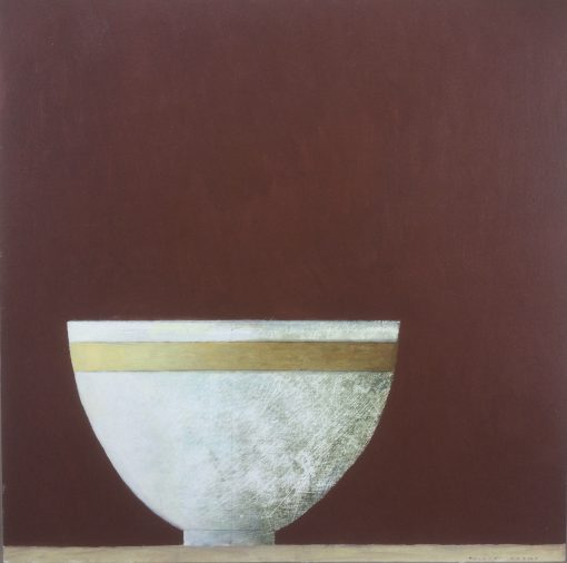 Philip Lyons, White Bowl with Gold Stripe 1