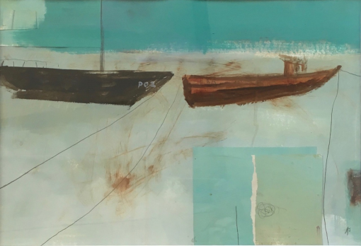 Anthea Stilwell, Boats at Moushole 1