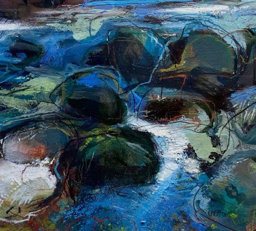 Jo Ellis, River Boulders 1