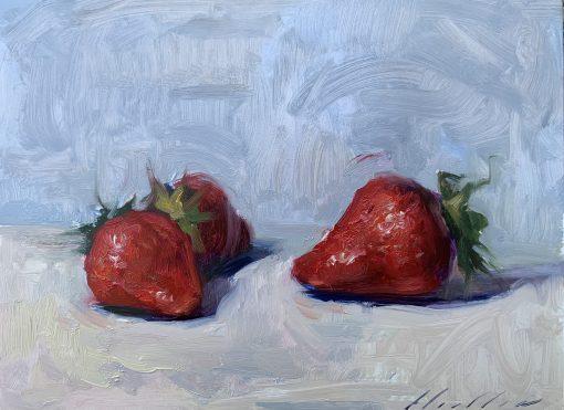 Archie Wardlaw, Still life of Strawberries 1