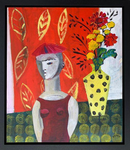 Naomi Munuo, Fabrics with Spotty Vase 1