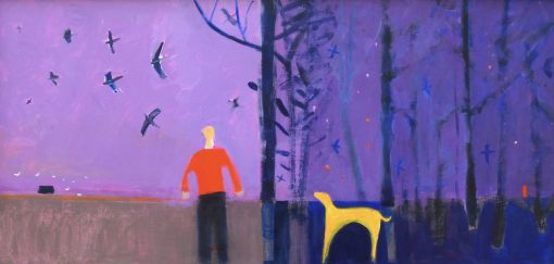 Carol Saunderson, Birds Flying from the Wood at Dawn 1