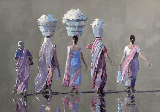 Patrick Gibbs, Five Women, Gujarat, India 1